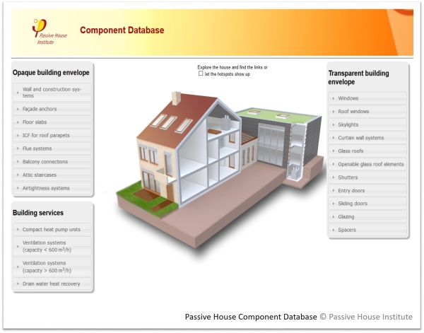 Certified Passive House Component Database