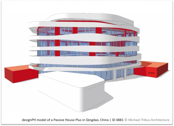 designPH model of a Passive House Plus in China